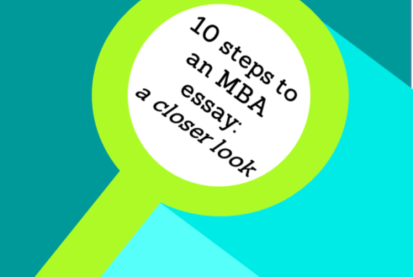 10 steps for writing an MBA essay