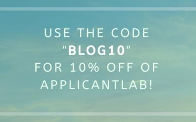 "ApplicantLab ""BLOG10"" Promo Code Discount Code Coupon"